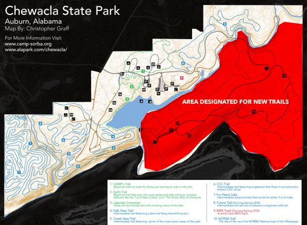 RFP For Trail Design at Chewacla State Park