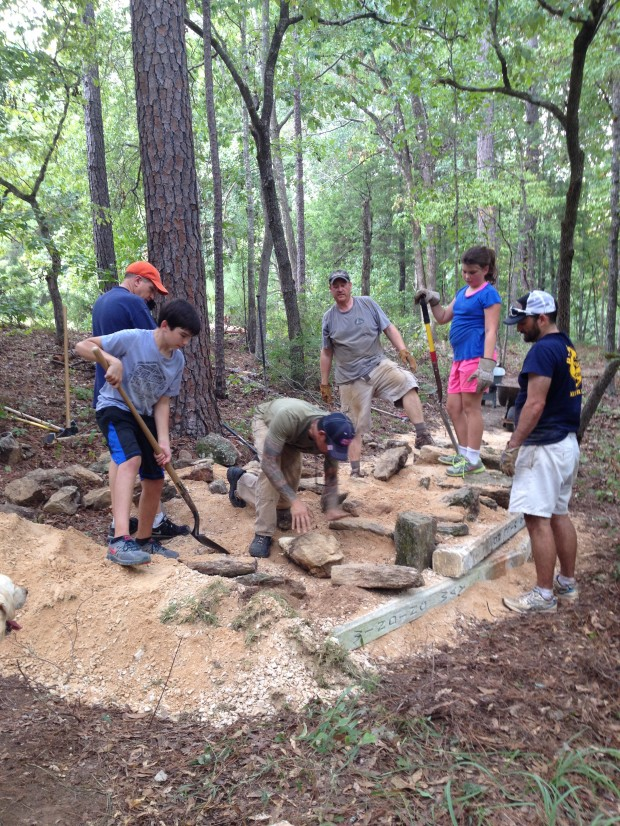 Base CAMP trail work