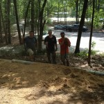Building the retaining wall